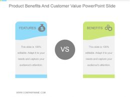 Product Benefits And Customer Value Powerpoint Slide