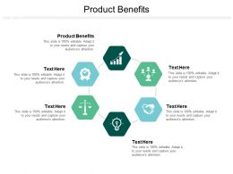 Product Benefits Ppt Powerpoint Presentation Ideas Grid Cpb