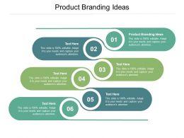 Product Branding Ideas Ppt Powerpoint Presentation Portfolio Design Inspiration Cpb