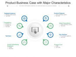 Product Business Case With Major Characteristics