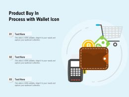Product Buy In Process With Wallet Icon