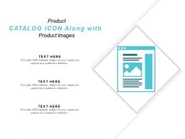Product Catalog Icon Along With Product Images