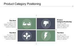 Product Category Positioning Ppt Powerpoint Presentation Infographics Background Image Cpb