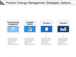 Product Change Management Strategies Options Window Opportunity Competitive Advantage