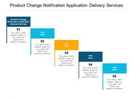 Product Change Notification Application Delivery Services Ppt Powerpoint Presentation Layouts Icon Cpb