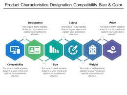 Product Characteristics Designation Compatibility Size And Color