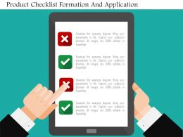 Product Checklist Formation And Application Flat Powerpoint Design