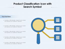 Product Classification Icon With Search Symbol