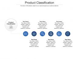 Product Classification Ppt Powerpoint Presentation Professional Icon Cpb