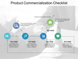 Product Commercialization Checklist Ppt Powerpoint Presentation Infographics Examples Cpb
