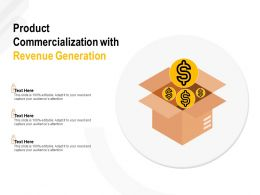 Product Commercialization With Revenue Generation