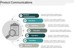 Product Communications Ppt Powerpoint Presentation Styles Example Topics Cpb