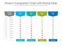 Product Comparison Chart With Pricing Table