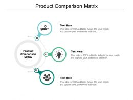 Product Comparison Matrix Ppt Powerpoint Presentation Show Guide Cpb