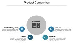 Product Comparison Ppt Powerpoint Presentation Icon Infographics Cpb