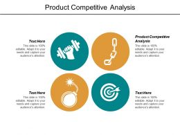 Product Competitive Analysis Ppt Powerpoint Presentation File Aids Cpb