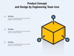 Product Concept And Design By Engineering Team Icon