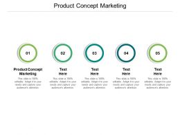 Product Concept Marketing Ppt Powerpoint Presentation Visual Pictures Cpb