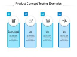 Product Concept Testing Examples Ppt Powerpoint Presentation Model Icons Cpb