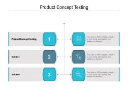 Product Concept Testing Ppt Powerpoint Presentation Icon Portrait Cpb