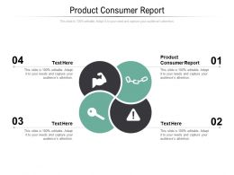 Product Consumer Report Ppt Powerpoint Presentation Model Demonstration Cpb