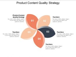 Product Content Quality Strategy Ppt Powerpoint Presentation Gallery Aids Cpb