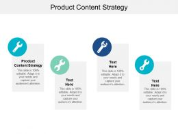 Product Content Strategy Ppt Powerpoint Presentation Gallery Template Cpb