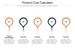 Product Cost Calculator Ppt Powerpoint Presentation Portfolio Layout Ideas Cpb