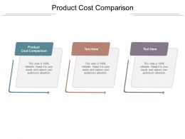 Product Cost Comparison Ppt Powerpoint Presentation Slides Graphics Download Cpb