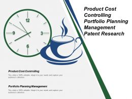 Product Cost Controlling Portfolio Planning Management Patent Research