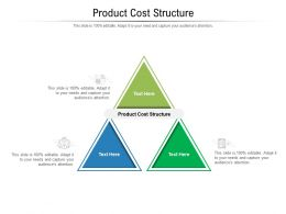Product Cost Structure Ppt Powerpoint Presentation Slides Cpb