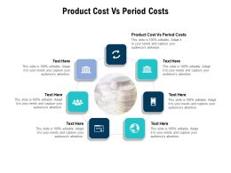 Product Cost Vs Period Costs Ppt Powerpoint Presentation Ideas Mockup Cpb
