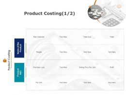 Product Costing Finance Planning Ppt Powerpoint Presentation Show Skills