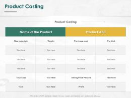 Product Costing Materials Ppt Powerpoint Presentation Layouts Introduction