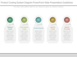 Product Costing System Diagram Powerpoint Slide Presentation Guidelines