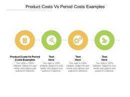 Product Costs Vs Period Costs Examples Ppt Powerpoint Presentation Show Visual Aids Cpb