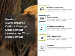 Product Customization Culture Change Management Leadership Churn Management Cpb