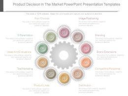 Product Decision In The Market Powerpoint Presentation Templates
