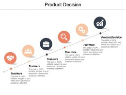 Product Decision Ppt Powerpoint Presentation Gallery Background Designs Cpb