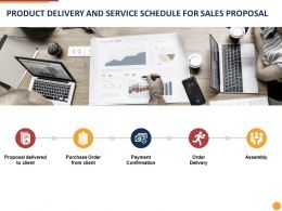 Product Delivery And Service Schedule For Sales Proposal Ppt Powerpoint Presentation Outline