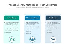 Product Delivery Methods To Reach Customers