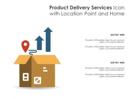 Product Delivery Services Icon With Location Point And Home