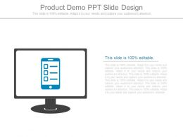 Product Demo Ppt Slide Design