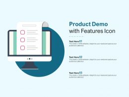 Product Demo With Features Icon