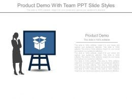 Product Demo With Team Ppt Slide Styles