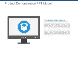 Product Demonstration Ppt Model