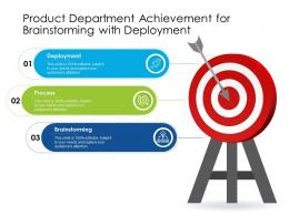 Product Department Achievement For Brainstorming With Deployment