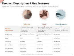 Product Description And Key Features Highlight Ppt Powerpoint Presentation Summary Styles