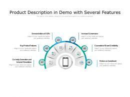Product Description In Demo With Several Features