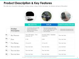 Product Description Key Features Ultimate Screen Ppt Powerpoint Presentation Slides
